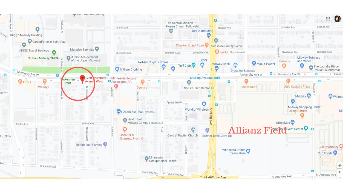 Allianz Field Map View