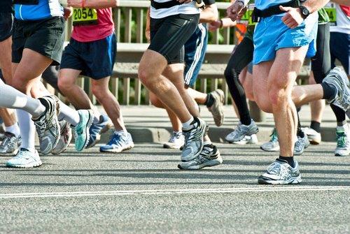 Running shoes-marathoners